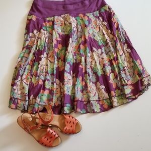 Free People Skirt Floral pattern size Large